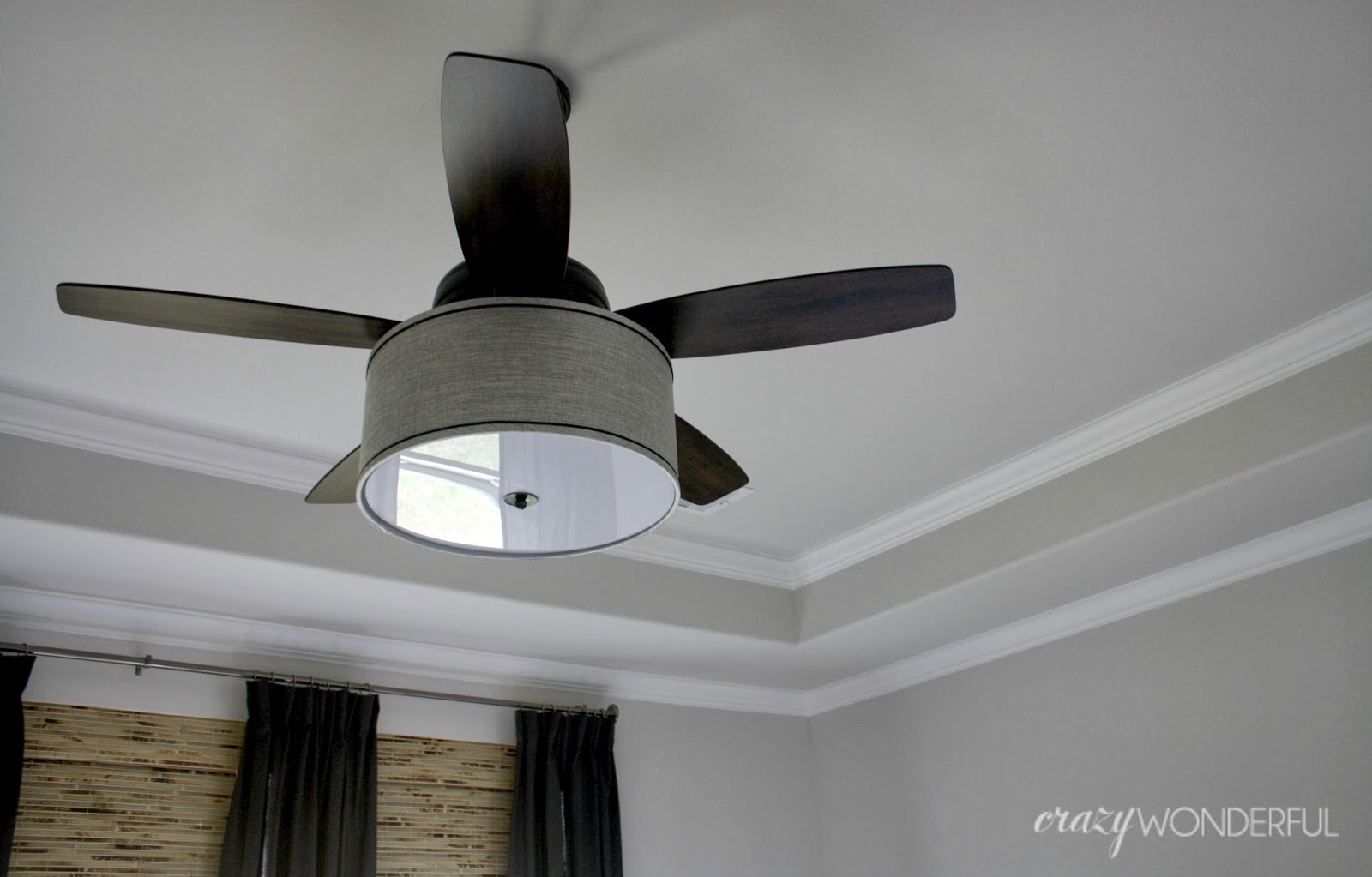 Diy drum shade ceiling fan crazy wonderful aloadofball Gallery
