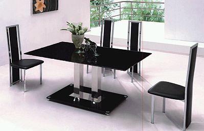 Muebles modernos de comedor de color negro for Colores de muebles modernos