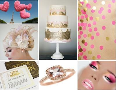 Parisian pink and gold wedding