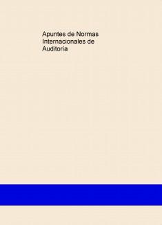 EBook Apuntes sobre Normas Internacionales de Auditoría.