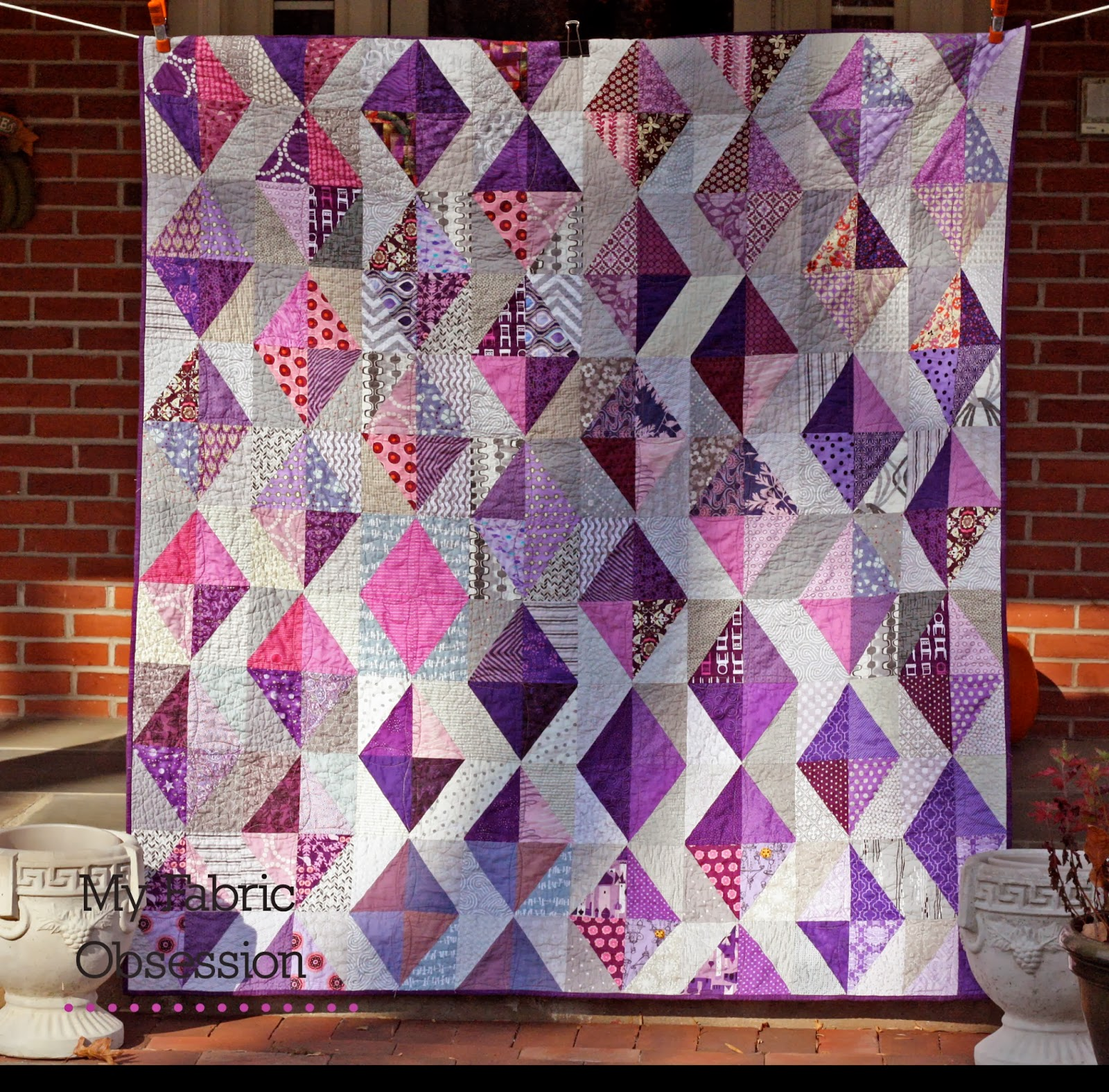 My Fabric Obsession: Purple Diamonds! : diamond quilts - Adamdwight.com