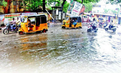 Chennai rain floods photos