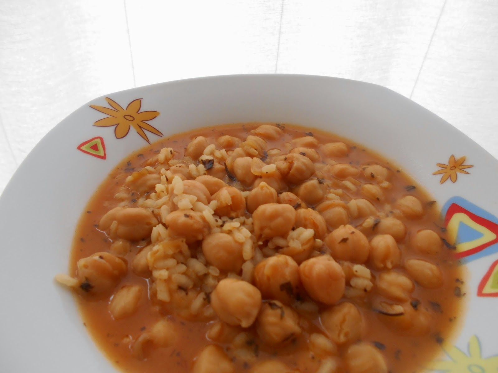 211 receta potaje de garbanzos con arroz a la - Potaje garbanzos con arroz ...