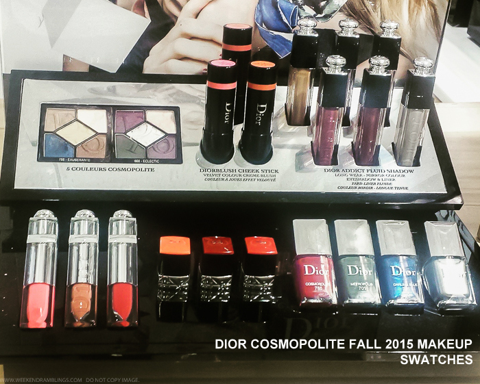 Dior Cosmopolite Autumn Fall 2015 Makeup Collection Swatches