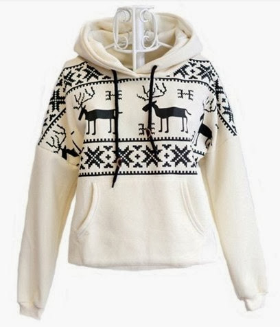 Deer Hooded Warm Sweater shirt Fashion Trend