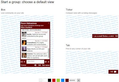 Cara Mudah Membuat Chat Room Online Gratis Untuk Blog