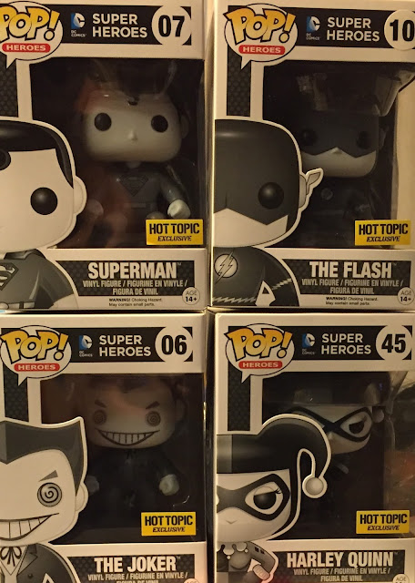 Hot Topic Exclusive DC Comics Pop! Mystery Blind Box Vinyl Figures by Funko - Superman, The Flash, The Joker & Harley Quinn