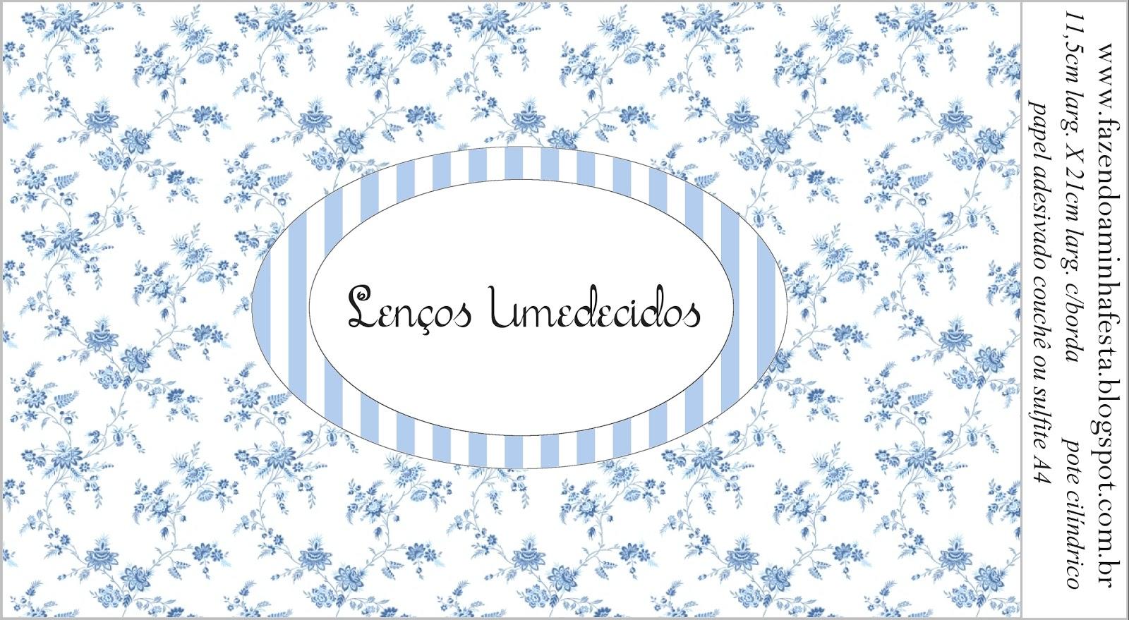 Kit Toilet Banheiro Azul Provençal Fazendo Minha Festa Casamento #40648B 1600 879