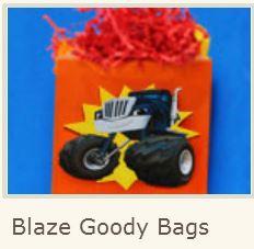 Blaze: Free Printable Goody Bag.