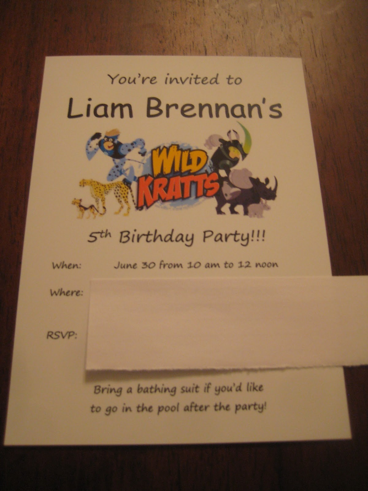 Wild Kratts Invitations was perfect invitation sample