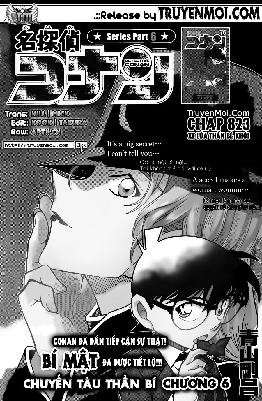 Detective Conan - Thám Tử Lừng Danh Conan chap 823 page 1 - IZTruyenTranh.com