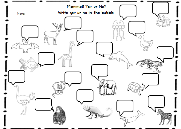 Printables Mammal Worksheets animal classification webquest