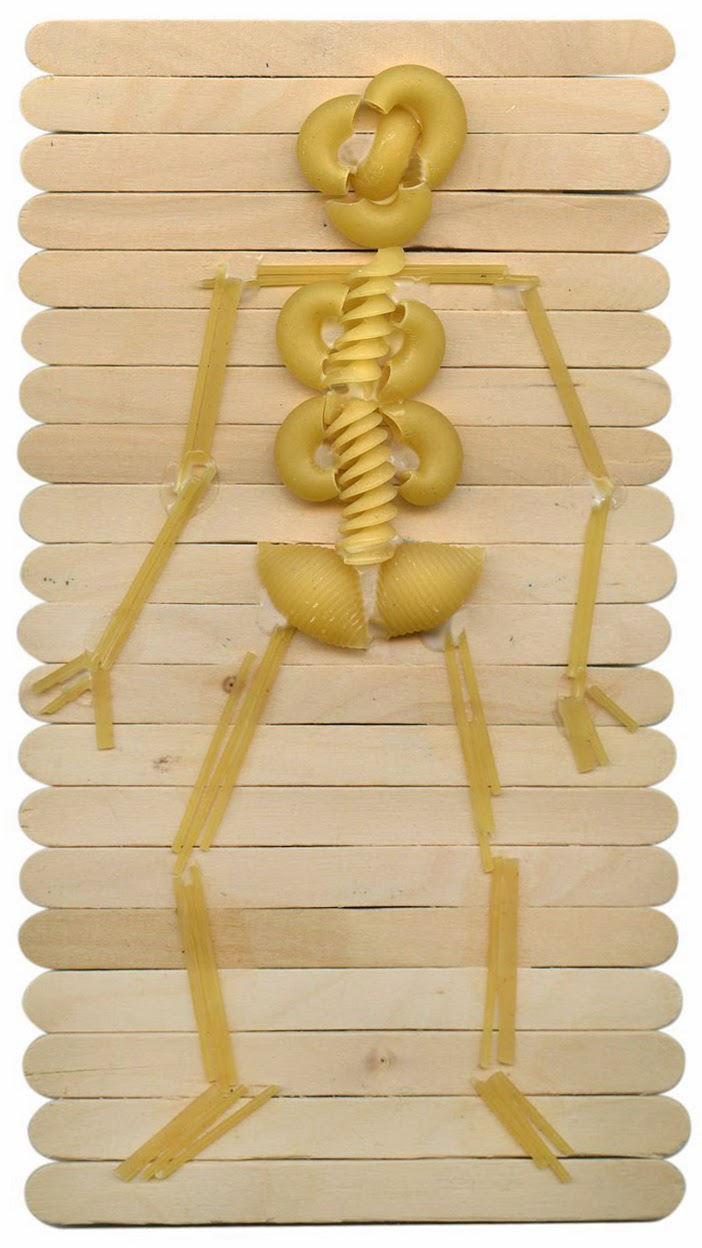 Pasta Skeleton Art Project