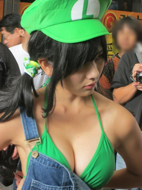 female luigi cosplay sexy