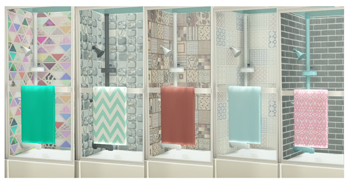 My Sims 4 Blog Shower Tub Recolors By Mysimlifefou