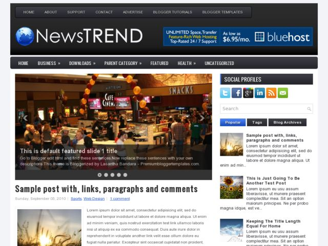 Demo NewsTrend Blogger Template