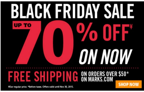 Mark's Black Friday Sale Up To 70% Off