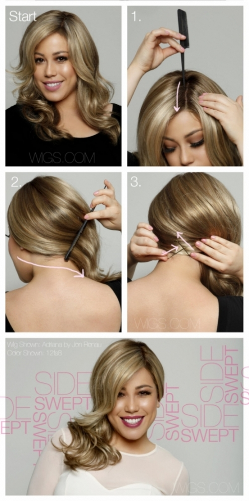 Fashion and Beauty - Side Swept Hair Tutorial
