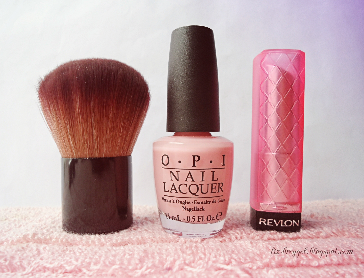 mac brush review, revlon lip butter review, opi essie lacquer review