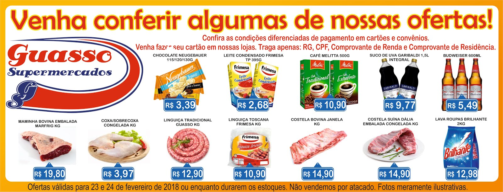 Confira algumas ofertas do Guasso Supermercados!!!