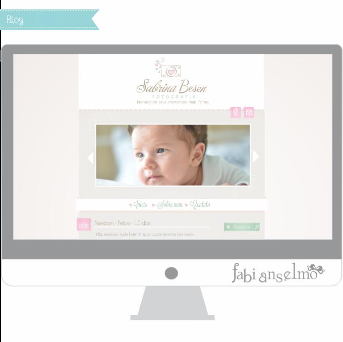 layout para blog de fotografia