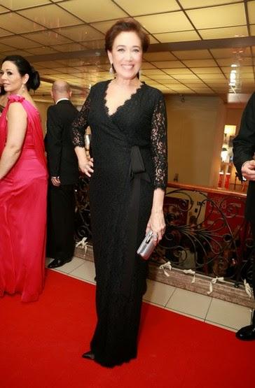 Liliana Cabral vestida por Diane Von Fusstenberg - XX GALA DOS GLOBOS DE OURO 2015