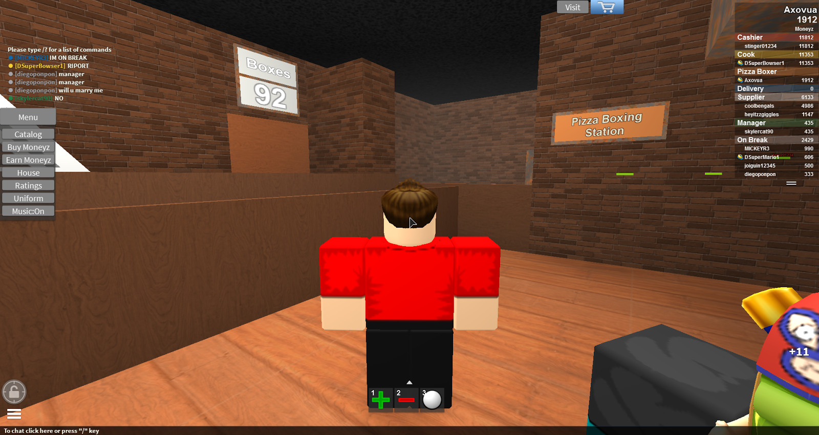 Axovua Game Reviews Work At A Pizza Place Roblox