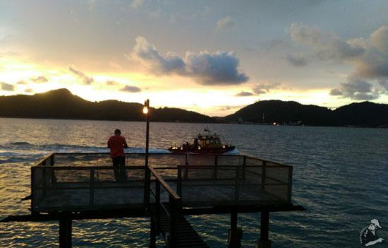 Sunset at Rockbund Fishing Chalet, Lumut, Perak, Malaysia