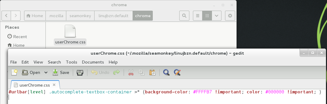 css code in userChrome.css