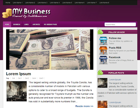 My Business Blogger Theme