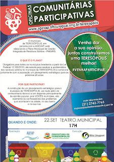 Prefeitura convida população para oficina do Plano de Resíduos Sólidos de Teresópolis