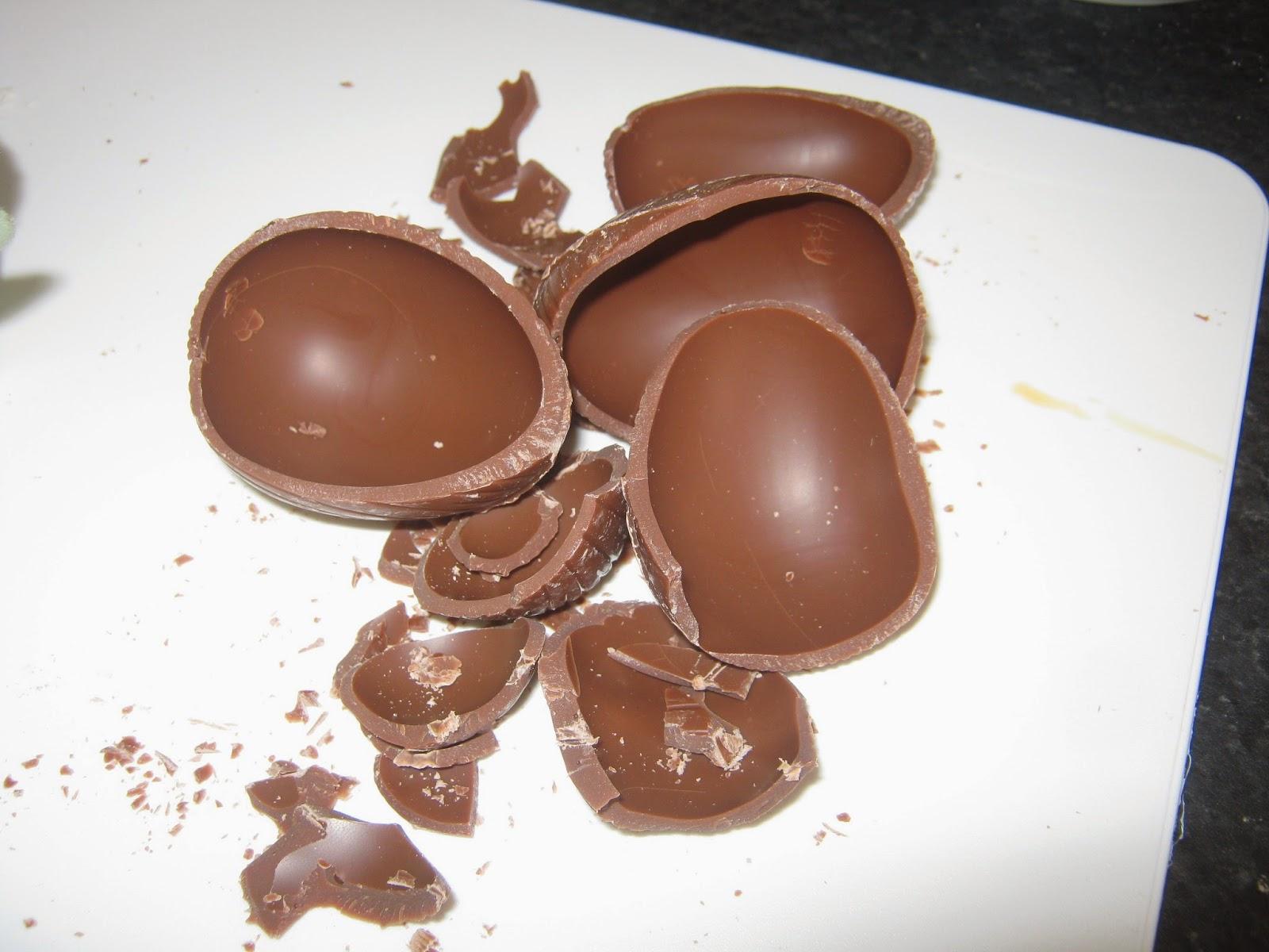 The accidentally broken chocolate eggs