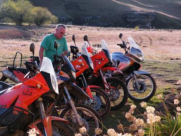Practice run in Lesotho