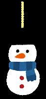 クリスマスの飾りのイラスト(雪だるま2)