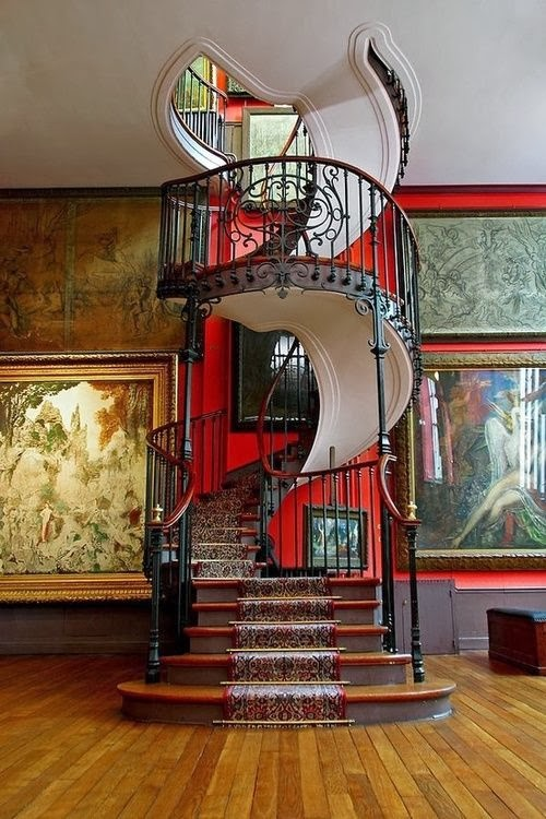 spiral stairs in national museum in Paris