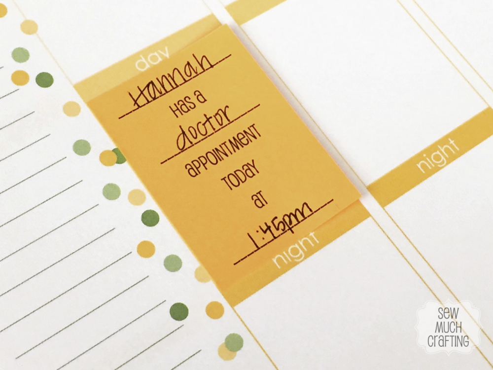 Free Post-It Template for the Erin Condren Life Planner