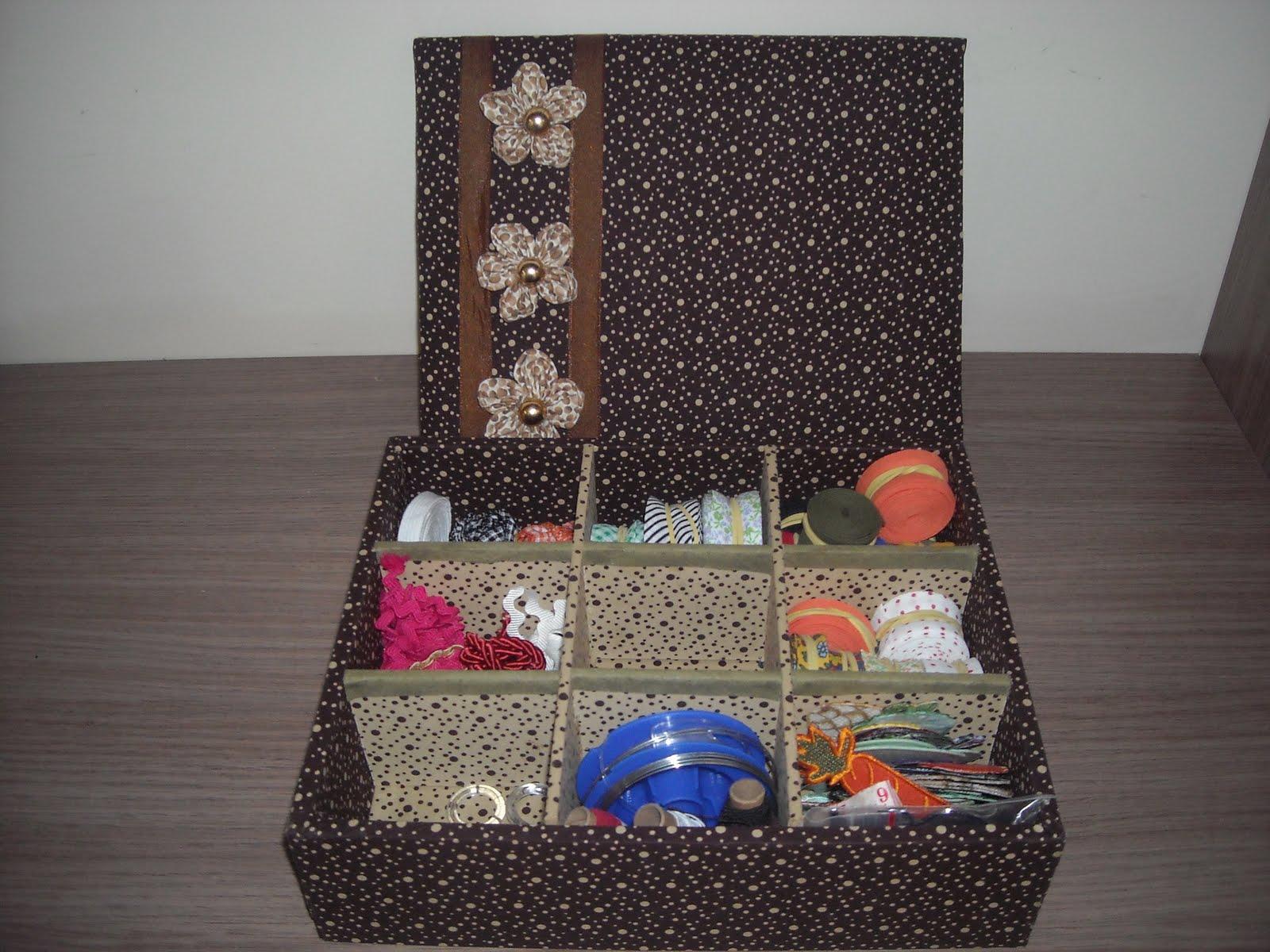 Artes na Vida de Isa: Caixa forrada com tecido #9A4731 1600x1200