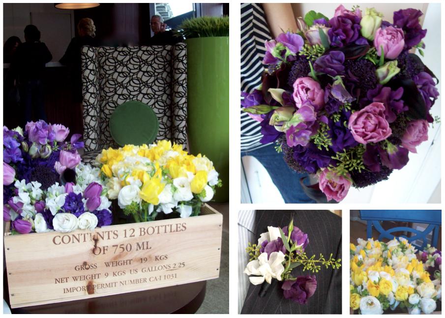 Bright Spring Wedding Flowers at Webber's Inn Ann Arbor