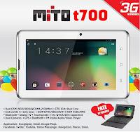 Harga Tablet Mito T700 Terbaru Bulan Agustus 2013