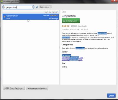 شرح كيفية إعداد وربط محاكي ,GenyMotion ,مع اندرويد استديو,