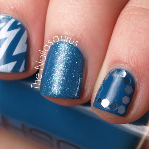 Blue Skittle Nail Art