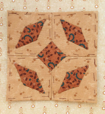 Dear Jane Quilt - Block I11 Coyote Chase