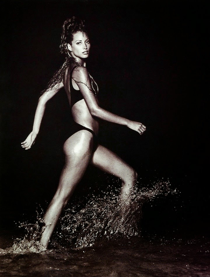 Christy Turlington shot by Patrick Demarchelier for US Harper's Bazaar November 1992