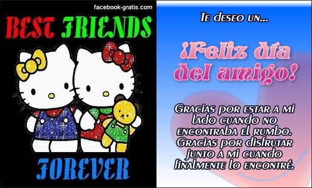 Tarjeta del Día del amigo para Facebook