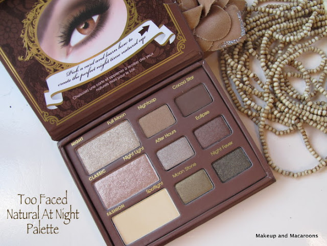 too faced natural at night palette