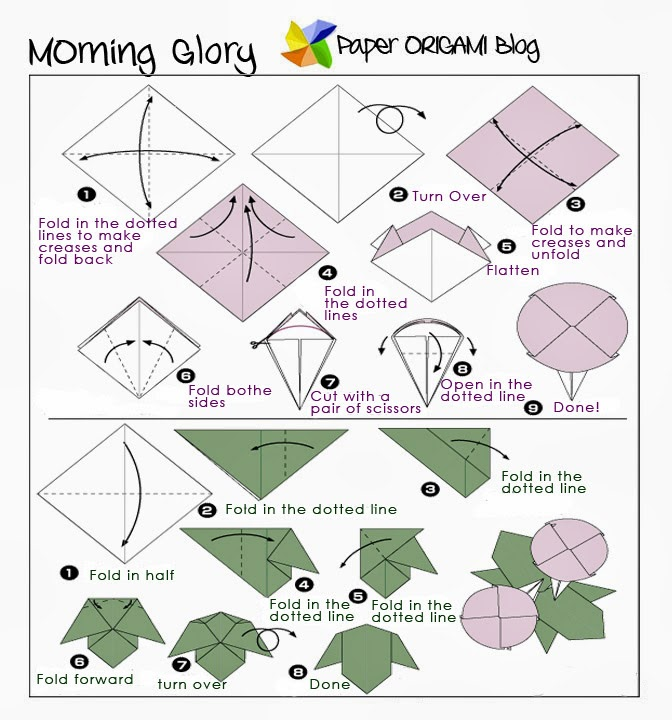 paper flower folding instructions