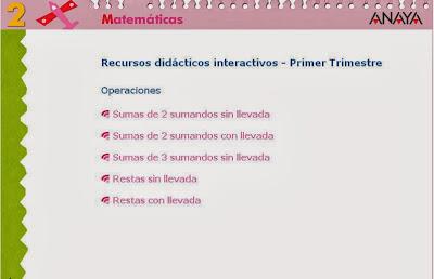 http://www.ceipjuanherreraalcausa.es/Recursosdidacticos/SEGUNDO/datos/02_Mates/03_Recursos/01_t/mates_rdi_trimes_1_t_oper.htm