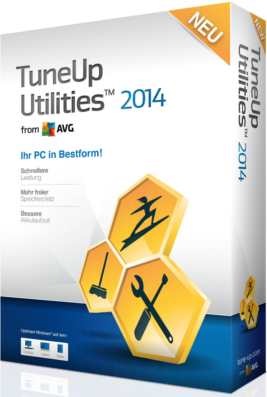 TuneUp Utilities 2014 is a collection of tools for cleaning up, optimising, repairing, customising, and generally acquiring the maximum probable performance from your Computer