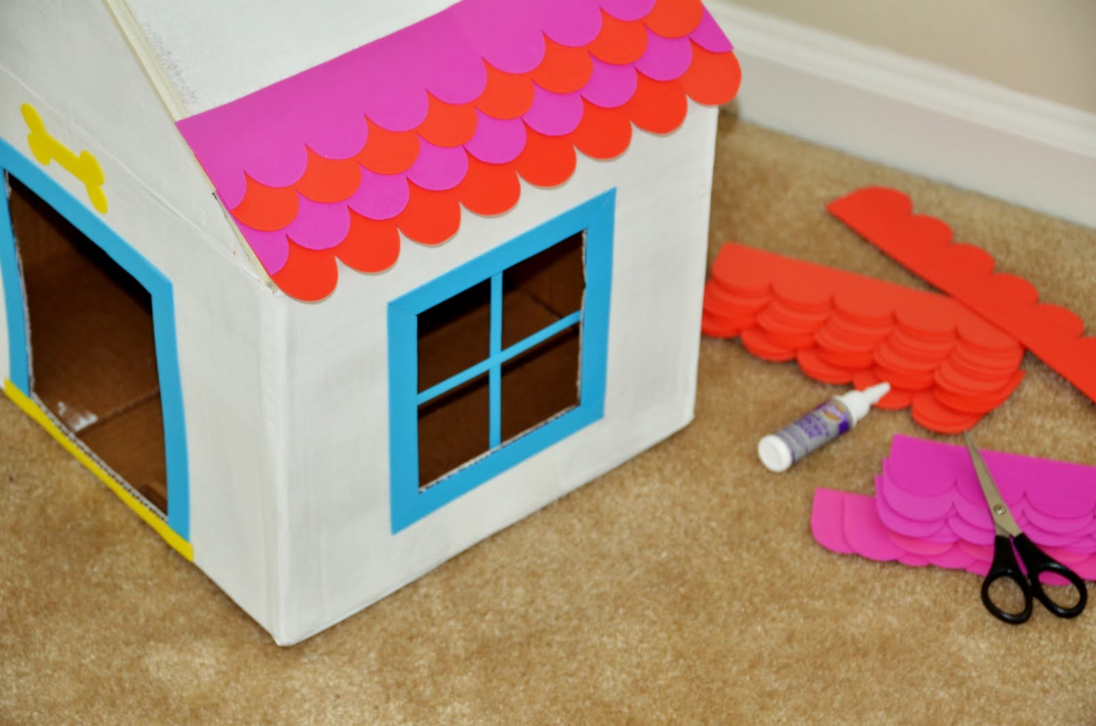 How to Make with Cardboard Box Dog House