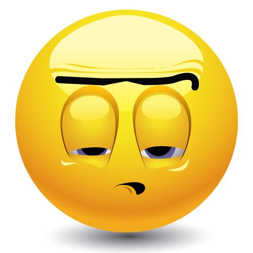 Pessimistic emoticon